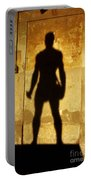 The Shadow Of The Statue Portable Battery Charger