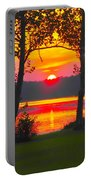The Smiling Face Sunset Portable Battery Charger