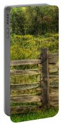 The Split Rail Meadow Portable Battery Charger by Benanne Stiens