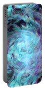 The Stargazer's Journey Portable Battery Charger by Linda Sannuti