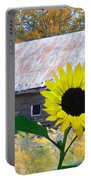The Sunflower And The Barn Portable Battery Charger