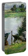 The Thames At Benson Portable Battery Charger