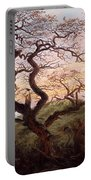 The Tree Of Crows Portable Battery Charger by Caspar David Friedrich
