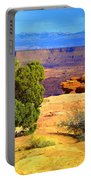 The Tree The Canyon And The Mountains Portable Battery Charger