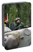 The Turret Of The Leopard 1a5 Mbt Portable Battery Charger