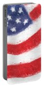 The United States Flag Portable Battery Charger