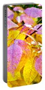 The Warm Glow In Autumn Abstract Portable Battery Charger