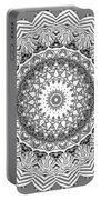 The White Mandala No. 2 Portable Battery Charger