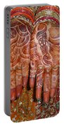 The Wonderfully Decorated Hands And Clothes Of An Indian Bride Portable Battery Charger