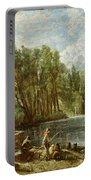The Young Waltonians - Stratford Mill Portable Battery Charger by John Constable