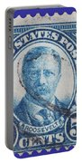 Theodore Roosevelt Postage Stamp Portable Battery Charger