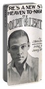 There's A New Star In Heaven Tonight Rudolph Valentino Portable Battery Charger