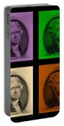 Thomas Jefferson In Quad Colors Portable Battery Charger
