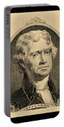 Thomas Jefferson In Sepia Portable Battery Charger