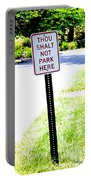 Thou Shalt Not Park Here Portable Battery Charger