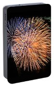 Three Bursts Of Fireworks Four July Two K Ten Portable Battery Charger