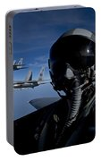 Three F-15 Eagles Fly High Portable Battery Charger