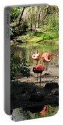 Three Flamingos Portable Battery Charger