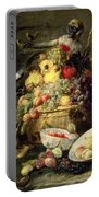 Three Monkeys Stealing Fruit Portable Battery Charger