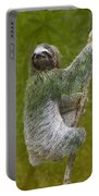 Three-toed Sloth Climbing Portable Battery Charger by Heiko Koehrer-Wagner