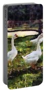 Three White Geese Portable Battery Charger