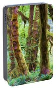 Through Moss Covered Trees Portable Battery Charger