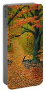 Through The Fallen Leaves II Portable Battery Charger