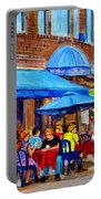 Ti Amo Restaurant Prince Arthur Street Montreal Portable Battery Charger by Carole Spandau