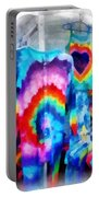 Tie Dye Shirts Portable Battery Charger