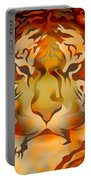 Tiger Illustration Portable Battery Charger