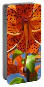 Tiger Lily Close Up Portable Battery Charger