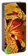 Tiger Lily Still Life  Portable Battery Charger
