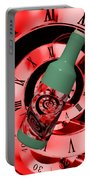 Time In A Bottle Red Portable Battery Charger