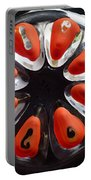 Orange And Black Art -time - Sharon Cummings Portable Battery Charger