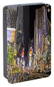 Times Square Abstract Portable Battery Charger