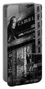 Times Square Black And White Portable Battery Charger