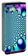 Tiny Rainbow Bubbles Fractal 98 Portable Battery Charger