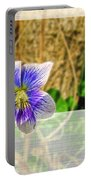 Tiny Violet   Blank Greeting Card Portable Battery Charger