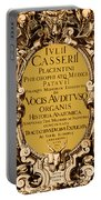 Title Page, Giulio Casserios Anatomy Portable Battery Charger by Science Source