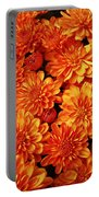 Toasted Orange Chrysanthemums Portable Battery Charger
