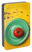 Tomato On Green Plate Portable Battery Charger