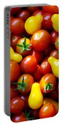 Tomatoes Background Portable Battery Charger by Carlos Caetano