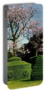 Topiary Garden In Spring Portable Battery Charger