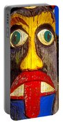 Totem Pole With Tongue Sticking Out Portable Battery Charger