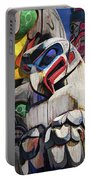 Totem Poles In The Pacific Northwest Portable Battery Charger
