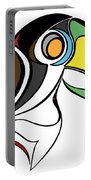 Toucan And Company On White Portable Battery Charger