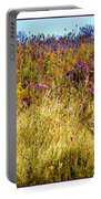 Touch Of Purple In October Portable Battery Charger