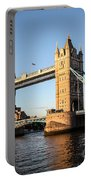 Tower Bridge And Helicopter Portable Battery Charger