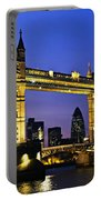 Tower Bridge In London At Night Portable Battery Charger