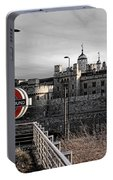 Tower Of London With Tube Sign Portable Battery Charger